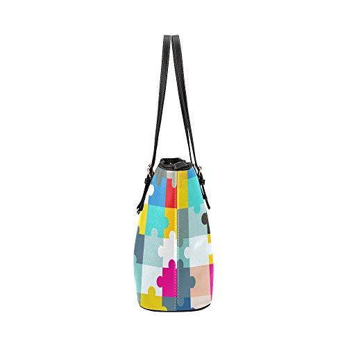 Handväskor abstrakt färgglad kreativ målning läder handväskor väska orsaksala handväskor dragkedja axel organiserare för dam flickor damväskor och handväskor för kvinnor