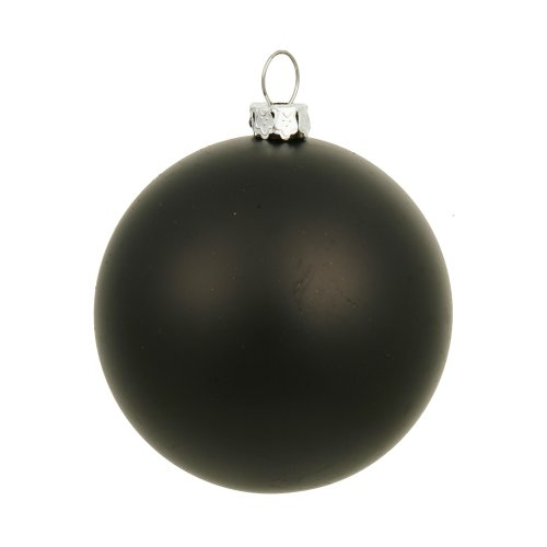 Matte Ball - Vickerman Matte Finish Seamless Shatterproof Christmas Ball Ornament, UV Resistant with Drilled Cap, 8
