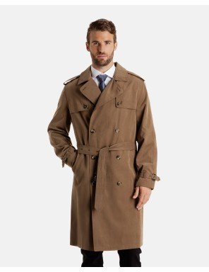Fog Double Breasted Coat London (London Fog Men's Plymouth Twill Belted Double Breasted Iconic Trench Coat, Dark Khaki, 50 Regular)