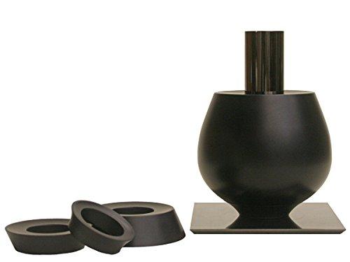 花瓶 花器 花入れ 重-jue- wide 黒 フラワーベース B01N373G5T