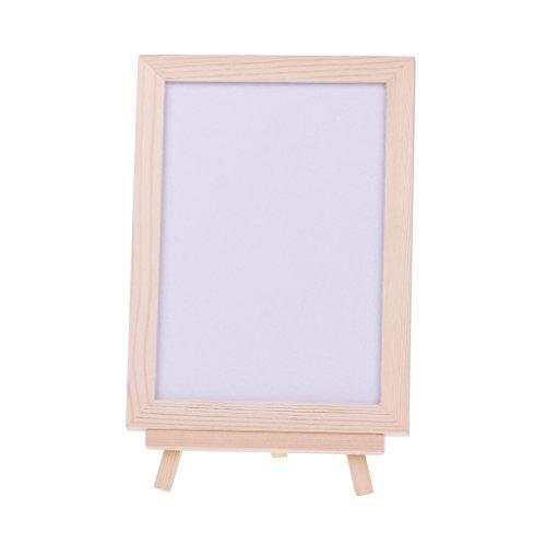 Milue Desktop Wood Frame Double Sided Whiteboard Easel White Memo Board Child Kids Toy