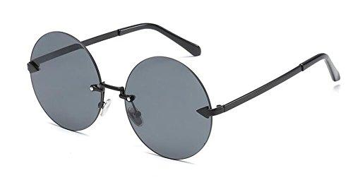Pièce métallique vintage soleil Lennon cercle rond en polarisées lunettes retro style du de inspirées Grise x1wcnCPOq