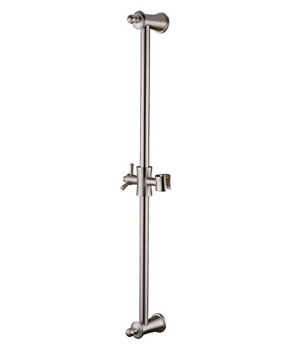 HANEBATH Brass Slide Bars with All Brass Handheld Shower Bracket Height and Angle Adjustable,Brushed Nickel Brass Shower Slide Bar