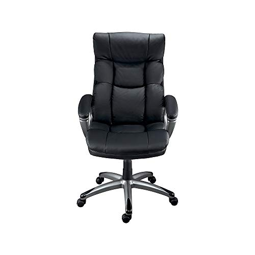 Staples 69022 Burlston Luxura Faux Leather Manager Chair Black 24810
