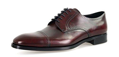 Prada Men's 2EB125 Red Full Brogue Leather Business Shoes EU 9 (43) / US - Red Prada Dress