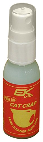 EK USA, Cat Crap Multi-Use Anti-Fog Spray, for any Optics, Coatings, Eyeglass Lens Cleaner, Spray On - 1 Ounce Bottle