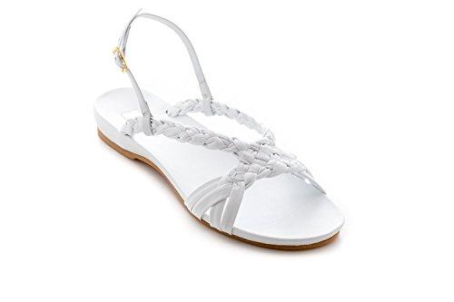 Raggini with Footbed Bianco Antonio Hand Leather Anatomical Woven Sandal fdgnwFqU1