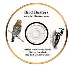 BirdBusters Woodpecker Predator & Distress calls CD- these sounds scare Woodpeckers