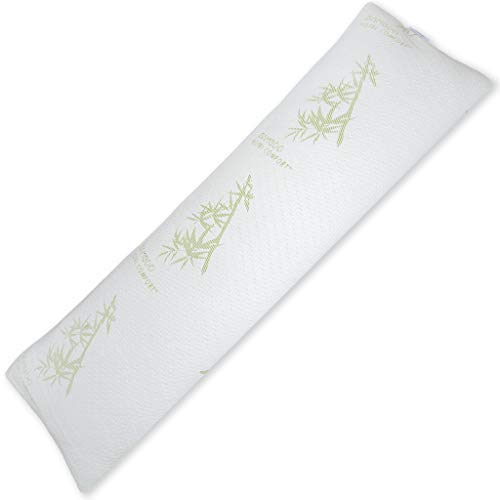 Hotel Comfort Memory Foam Body Pillow - Bamboo Hypoallergenic Cooling Cover - 58 Inches - Ultra Comfort Relaxation Support (Inch 60 Pillow Bolster)