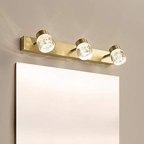 HIZLJJ 洗面化粧台のライト浴室照明器具LEDバニティライト北欧ミニマ浴室トイレ防水アンチフォグドレッシングテーブルランプメイクランプ