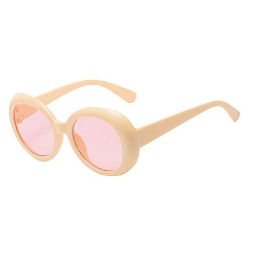 lunettes Sunglasses à UV amp;Red Zhhlinyuan Unisex Women Style Qualité Beige Protection Mode 400 Round soleil Étui de for lunettes Men ZYxvzqfYw