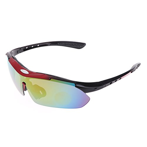 ULKEME 1 Set Cycling Eyewear Sun Glasses Polarized 3 Lens Bicycle Goggles Outdoor Sport - Cyber Electric Monday Sunglasses