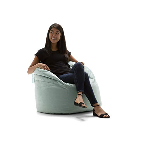Big Joe Stack Chair, Turquoise Plush Bean Bag – 0680562