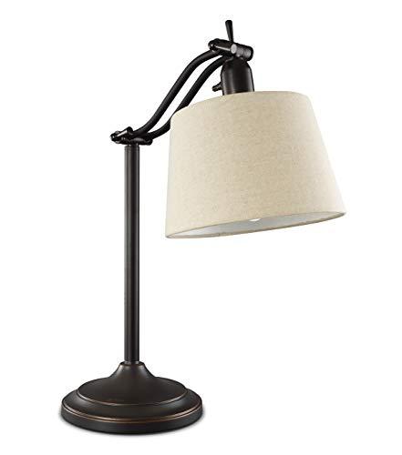 OttLite 20 Watt Auburndale Table Lamp | Desk Lamp, Decor Lamp | Adjustable Height, Bulb Included | Great for Home, Office, Desk, Dorm ()