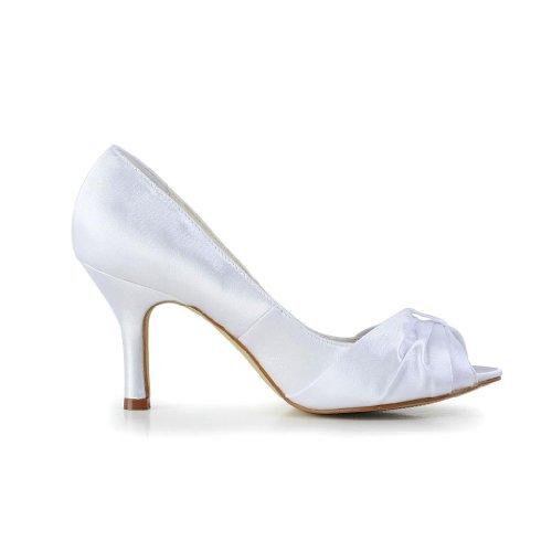 JIA JIA, Scarpe col tacco donna, Bianco (bianco), 36