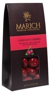 Marich Chocolates Chocolate Cherries 4.25 oz. (Chocolate Covered Dried Cherries)