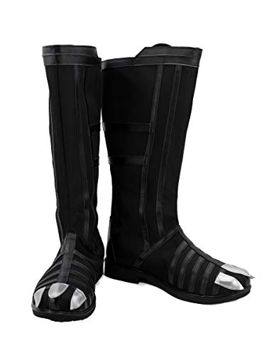 veribuy Halloween Hero Cosplay Shoes Guardian Costume Black Cosplay Boots