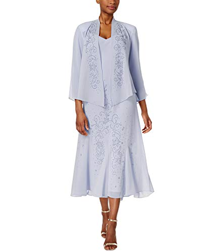 R&M Richards Women's Beaded Jacket Dress - Mother of The Bride Dresses (Periwinkle, 8)]()