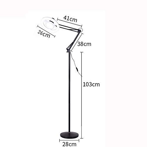MEIMEIDA Lámpara de Piso LED Lampara de Belleza Brillo Ajuste ...