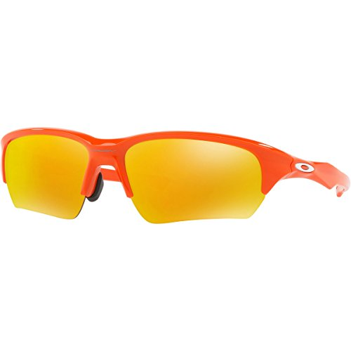 Oakley Men's Flak Beta (a) Non-Polarized Iridium Rectangular Sunglasses, Blood Orange, 65 - Orange Sunglasses Oakley
