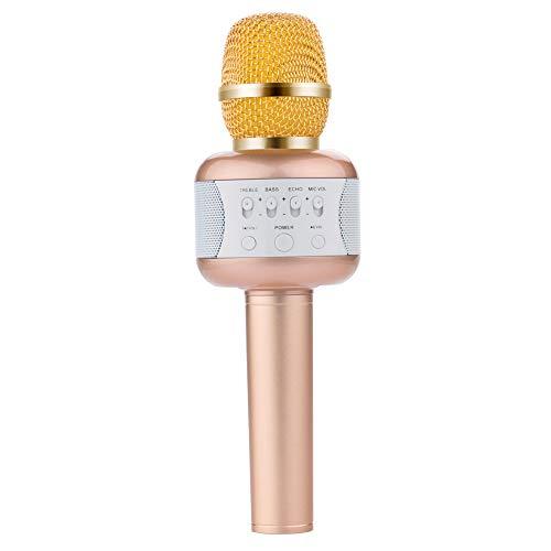 Wireless Microphones Karaoke Bluetooth 4.1, Wireless Microphone System Professional Handheld Mic For Karaoke Party Meeting Singing Church Wireless Bluetooth Karaoke Microphone ( Color : Gold ) by Xiuzhifuxie (Image #5)