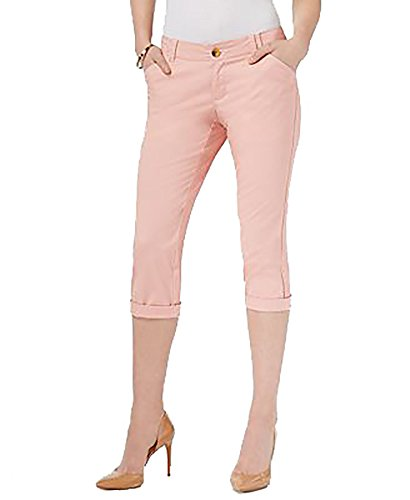 omens Petites Crop Pleated Chino Pants Pink 8P ()