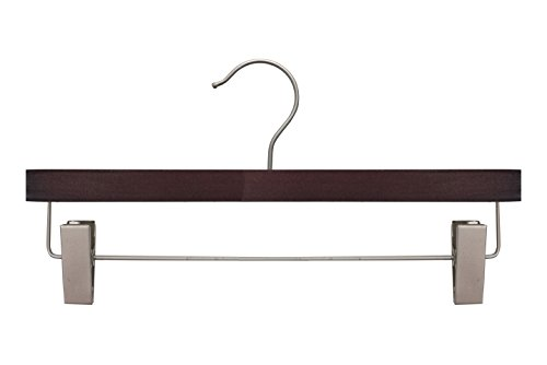NAHANCO 21314RC Wooden Pant/Skirt Hanger, 14'', Low Gloss Mahogany Finish (Pack of 100) by NAHANCO