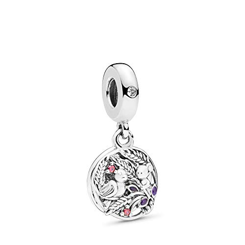 MiniJewelry fit Pandora Charms Bracelets Bird and Mouse Dangle Charm for Bracelets Engraved Always by Your Side Friendship Sterling Silver Dangle Charm for Best Friends Sister Mom