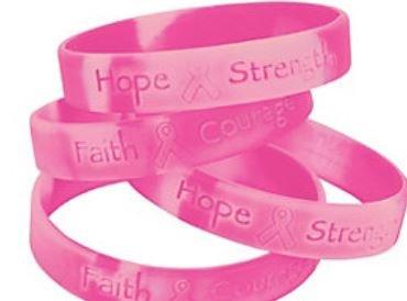 50 Pink Ribbon Camouflage Silicone Bracelets