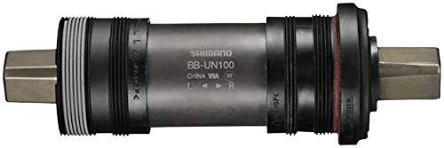 SHIMANO BB-UN100 Bottom Bracket - English, 68 x 122.5mm, Square Taper JIS, Black