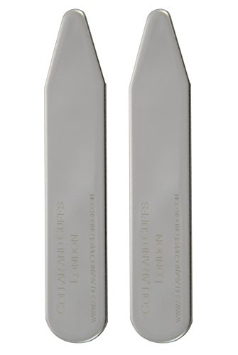 COLLAR AND CUFFS LONDON - 10 Metal Shirt Collar Stiffeners - 5 COLOURS, 5 SIZES - 2'' 2.2'' 2.35'' 2.5'' 2.8'' - Silver Black Gold Blue Rose Gold Colours - With Plastic Storage Box - 5 pairs by COLLAR AND CUFFS LONDON (Image #3)