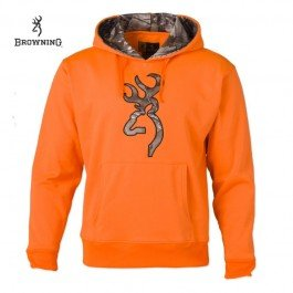 Browning Mens Blaze Hoodie w/Camo Buckmark,Large 3017502903 from Browning