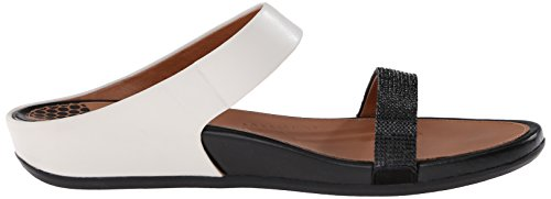 Crystal Dress Banda Women's Black Sandal White Fitflop Micro Slide qAxzUnT