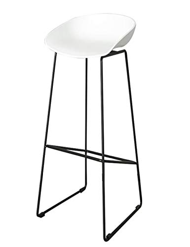 XPHZHJ- Barstools Stool Bar Chair Nordic Simple Fashion Iron Bar Stool Casual Cafe High Bench Designer Chair Black/White +