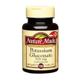 Nature Made gluconate de potassium 550mg (100 Comprimés)