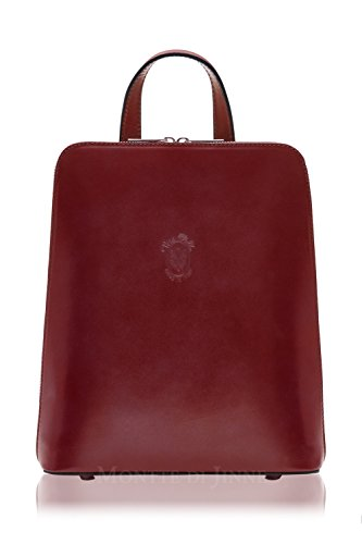 Di Body Red Gift Cross Backpack Leather Jinne Ladies Structured 100 Italian Montte dxwq8PvF8