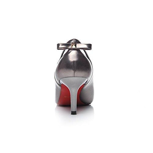 Hoxekle Donne Sexy Tacchi Alti Pompe A Spillo Primavera Moda Nuovo Elemento Scarpe Design Gioielli Argento