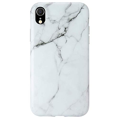 GOLINK Case for iPhone XR, Matte Finish Marble Series Slim-Fit Ultra-Thin Anti-Scratch Shock Proof Dust Proof Anti-Finger Print TPU Gel Case for iPhone XR 6.1 inch(White Marble)