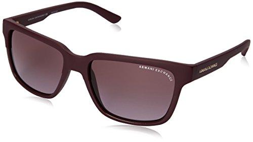 Armani Exchange Men's Injected Man Square Sunglasses, Purple/Matte Purple, 56 - Candies Sunglasses Prescription