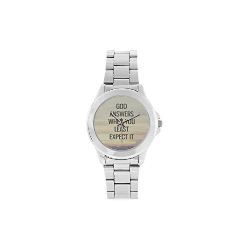 (Best Gifts God answers when you least expect it - Bible Verse Watch Analogue Stainless Steel Men's)