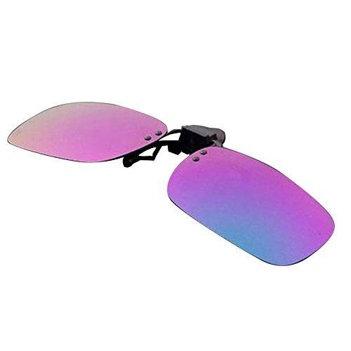 Simwood™ New Men UV 400 Polarized Flip-up Sunglasse Myopia Glasses - Clip With Eyeglasses Shades On