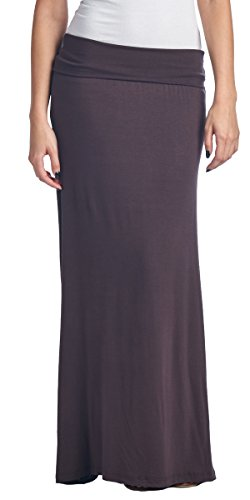 aac27d9147bbc Galleon - Popana Regular And Plus Size Comfortable And Versatile Maxi-Skirt  Large In Brown - Made In USA