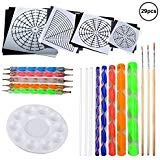 - OOTSR 29 Pieces Mandala Painting Kits, Dotting Tools Painting Brushes for Mandala Art, Canvas/Rock Painting, Wall Art, Nail Art, Painting