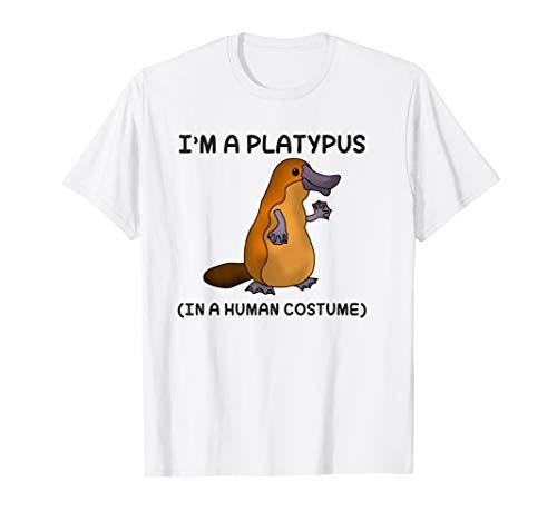 Platypus in a Human Costume Shirt for Kids