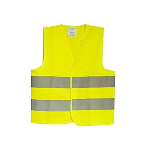 Security Surveyor Safety Vest Police Traffic Vest High Visibility Comfortable Reflective Breathable Construction Motorcycle Bike Traffic Running Emergency for Kids, Yellow(XS)