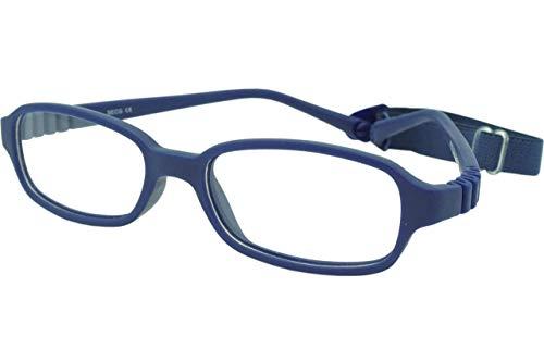 - Kids Optical Eye Glass Frame with Strap for Girls Boys Sport Corrective Non Prescription Flexible Size 47 Navy
