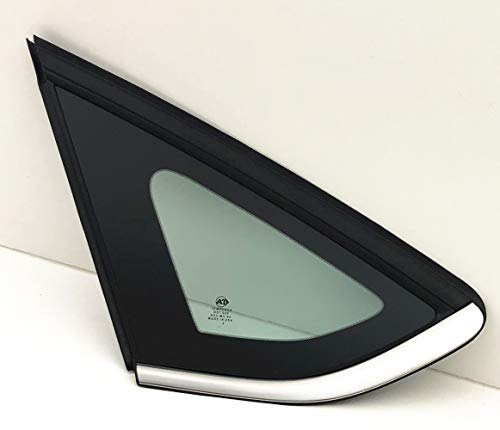 (NAGD Fits 2013-2018 Ford Fusion Driver Left Side Quarter Window Glass Chrome Moulding)