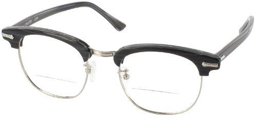 Shuron Ronsir 50 (Men's Average Fit) Bifocal Designer Reading Glasses, Black Briar, +3.25 by Shuron