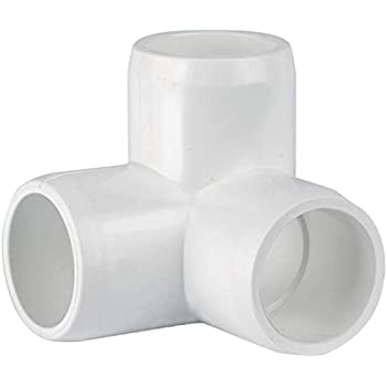 CIRCOPACK 1/2  PVC 3-way Elbow Fitting Connectors (2 pieces)  sc 1 st  Amazon.com & FORMUFIT F0013WE-WH-4 3-Way Elbow PVC Fitting Furniture Grade 1 ...