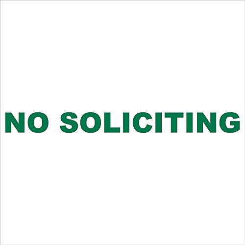 No Soliciting - vinyl sticker decal (9